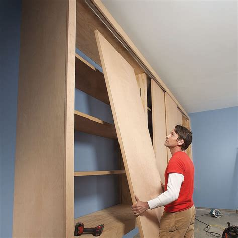 Diy Garage Storage Sliding Doors